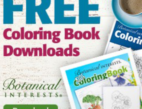 Free Botanical Interests Coloring Book Download